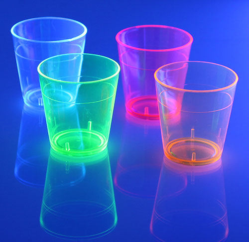 Barconic® 1.5oz Assorted Plastic Shot Glasse - Under Blacklight