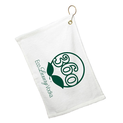 "17.5"" x 11"" White Bar Towel with Hook"