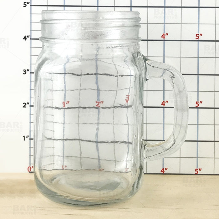 BarConic® Glassware - Mason Jar Mug Glass - 12 ounce - CASE OF 12