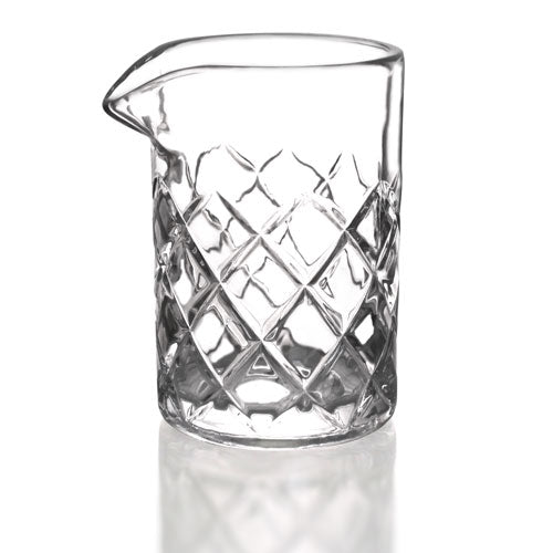 BarConic® Diamond Pattern Mixing Glass - 13 ounce