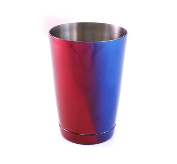 Blue and Red Color Fusion 16oz Shaker