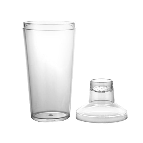16oz 3 Piece Plastic Shakers- clear