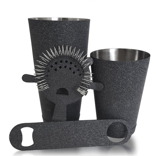 BarConic® Bartending Kit 18oz. 4 Piece Weathered Iron
