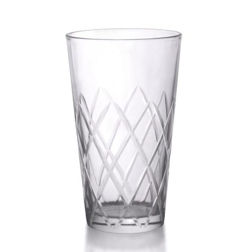 BarConic® 16 oz Boston Mixing Glass - Diamond Pattern