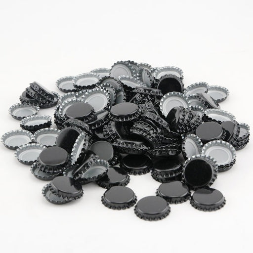 Crown Beer Bottle Caps - Black - Pack of 144