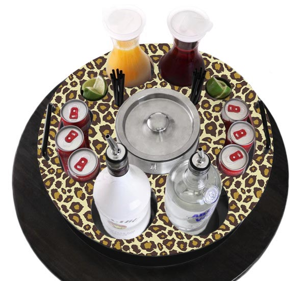 Wood VIP Bottle Service Tray - 18 inch - Choose Your Pattern