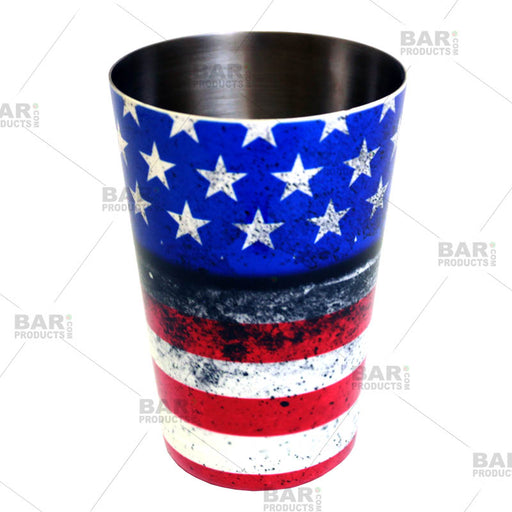 Cocktail Shaker Tin - Printed Designer Series - 18oz weighted - U.S. Flag