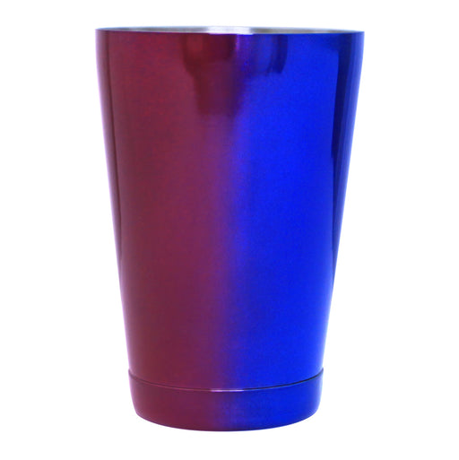 Cocktail Shaker Tin 18oz. – Red & Blue Color Fusion