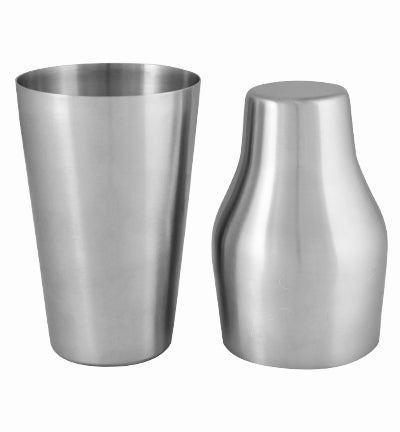 Cocktail Shaker - 2 Piece - Brushed Stainless Steel