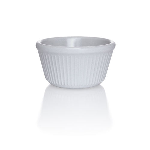 Bone - 2 oz. Fluted Melamine Ramekin - 12/pack