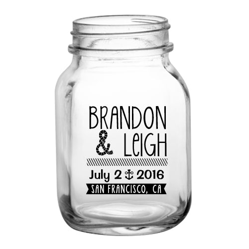 20oz BarConic® Mason Jar Mug with No Handle