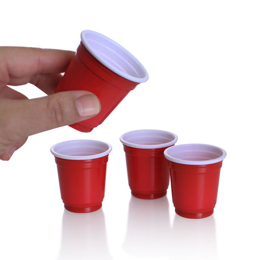 BarConic® 2 oz. Red Plastic Cups - 200 Count