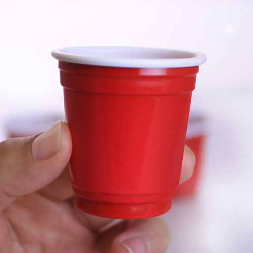 2 oz. Red Plastic Shot Cups