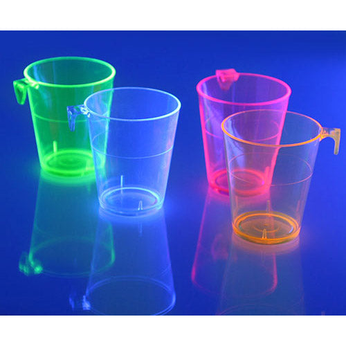 Barconic® 2oz Assorted Plastic Shot Glass with Hook - Under Blacklight