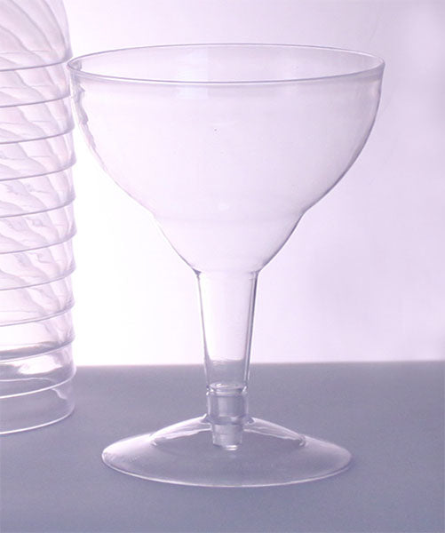 Plastic (Polystyrene) Margarita Glass - 6 ounce (sleeve of 12)
