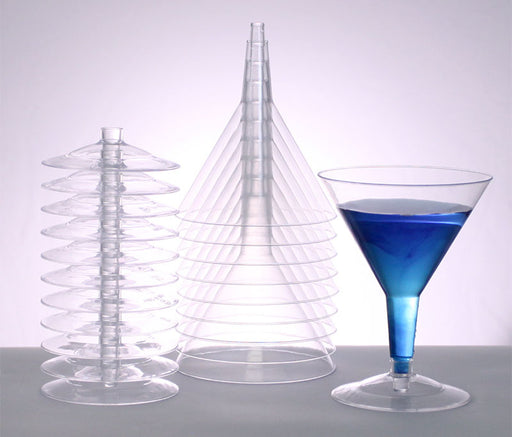 Plastic (Polystyrene) Martini Glass - 5 ounce (sleeve of 12)