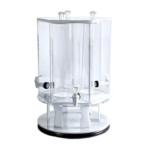3-Drink Holder on Rotating White Base