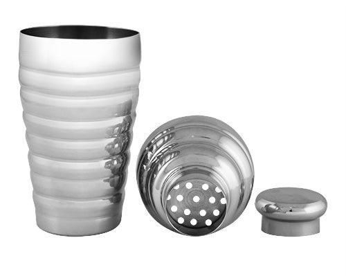 Cocktail Shaker - 3 Piece Beehive - Stainless Steel w/ Size Options