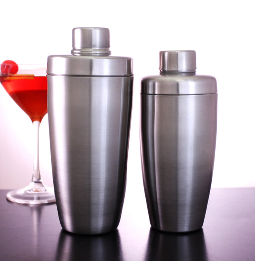 3 Piece Stainless Steel Flat Top Cocktail Shakers