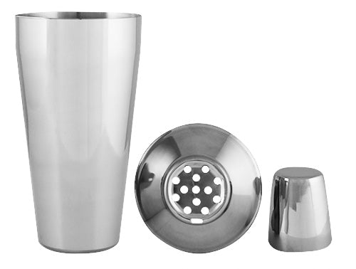 Cocktail Shaker - 3 Piece - Stainless Steel
