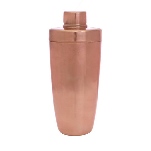 BarConic® 3 Piece Copper Plated Shaker - 28 oz Flat Top