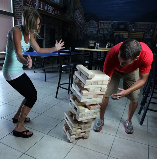 Giant Block Stacking Game