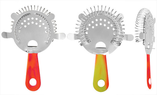 Cocktail Strainer - 4 Prong Vinylworks Swirl - Color Options
