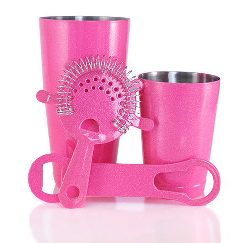 Pink Glitter Bar Set with V-Rod® Opener - 4 Piece