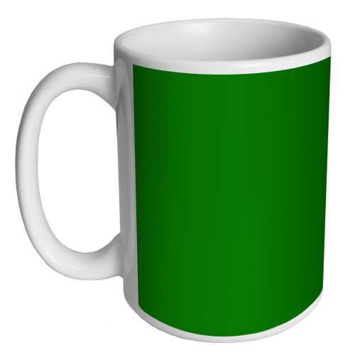 Custom Coffee Mug - Green - 15 ounce