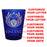CUSTOMIZABLE - 1.5oz Blue Frosted Shot Glass - Crest 1