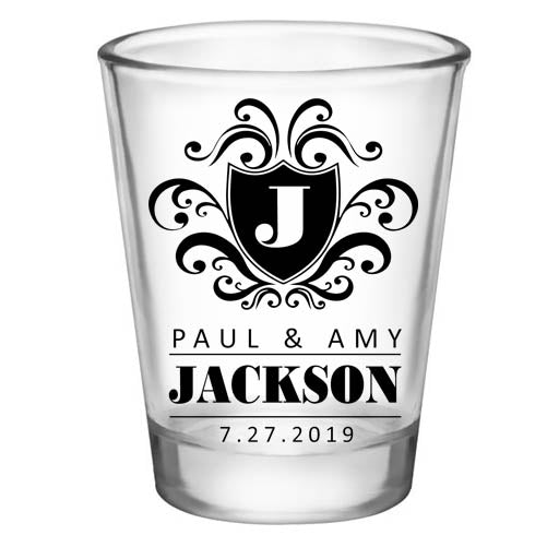 CUSTOMIZABLE - 1.75oz Clear Shot Glass - Crest (Version 3)