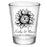 CUSTOMIZABLE - 1.75oz Clear Wedding Shot Glass - Sunflower