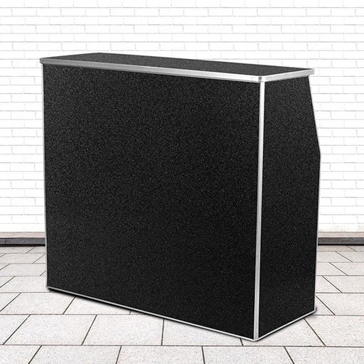 Portable Bar - Black Marble Laminate - 4 FT.