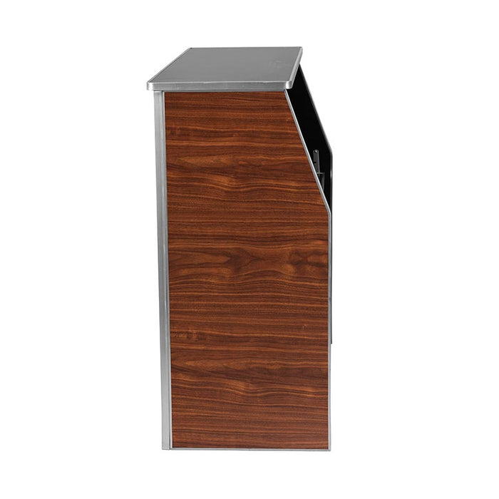 Portable Bar - Walnut Laminate - 4 FT.