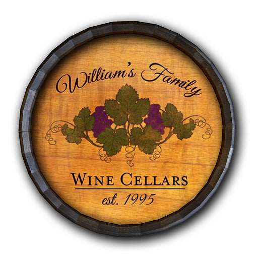 Wine Cellar Barrel Top Tavern Sign