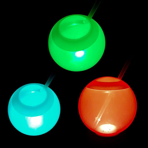LED Tumbler Ball Cup with Straw -  20 oz
