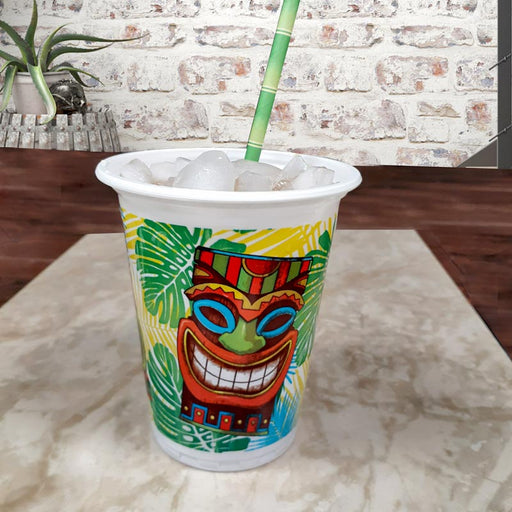 Tiki Time Plastic Cups - 16 oz - 8 pack