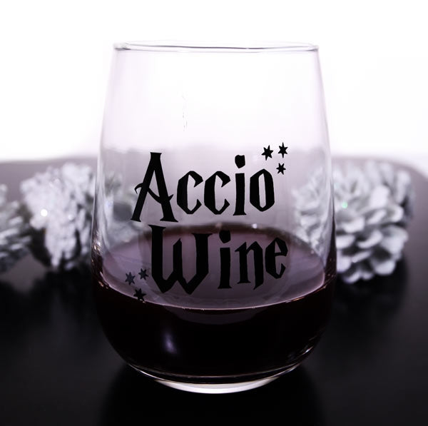Accio Wine Stemless Wine Glass
