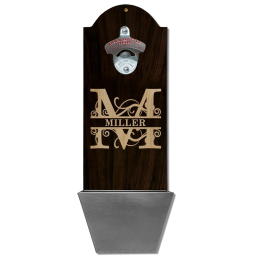 Custom Round Top Plaque with Cap Catcher - Family Monogram