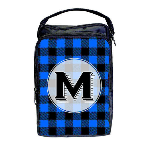 Bartender Tote Bag - ADD YOUR NAME Plaid Patterns - BLUE