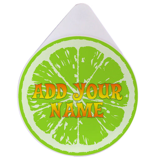 ADD YOUR NAME - Custom Glass Rimmer Lid - Lime
