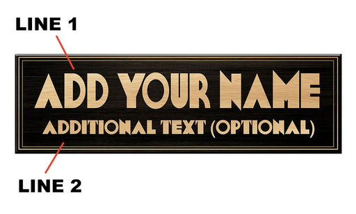 """ADD YOUR NAME"" A-Frame Sidewalk Chalkboard Sign – Double Sided - Wood Finish Options - Design 3"
