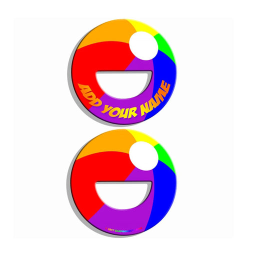 ADD YOUR NAME Round Bottle Opener - Beach Ball