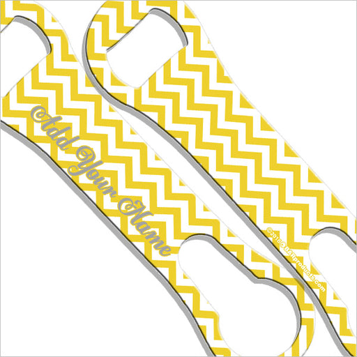 ADD YOUR NAME V-Rod® Bottle Opener – Chevron Yellow