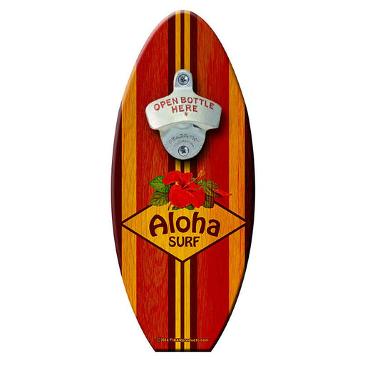 Aloha Surf - Wooden Surfboard Wall Mounted Bottle Opener