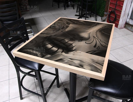 "Amor Eterno 24"" x 30"" Wooden Table Top - Two Types Available"
