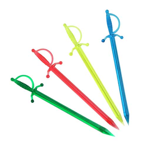 "BarConic® Sword Cocktail Picks - 3.5"" - Color Options - Pack of 250"