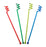 "BarConic® Swirl Top Stirrers - 6.5"" - Color Options - Pack of 200"