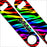 """ADD YOUR NAME"" SPEED Bottle Opener – Zebra Patterns – Several Color Options - Rainbow"