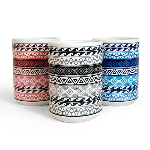 Aztec Pattern Ceramic Mugs - Color Variants - 15 oz